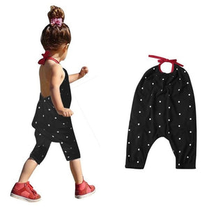 New Fashion Kids Baby Girls Strap Cotton Romper Toddler Sling Jumpsuit Harem Trousers - shopbabyitems