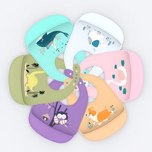 Baby Bib Adjustable  Animal Picture Waterproof Saliva Dripping Bibs - shopbabyitems