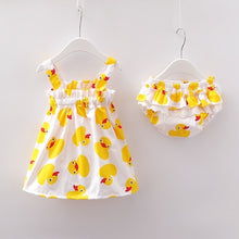 Load image into Gallery viewer, New Newborn Baby Girls Clothes Sleeveless Dress+Briefs 2PCS Outfits Set Striped Printed Cute Clothing Sets Summer Sunsuit 0-24M - shopbabyitems