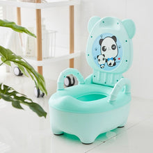 Load image into Gallery viewer, New Portable Baby Potty Toilet Seat Cute Cartoon Panda Soft Kids Potty Training Seat Children's Folding Backrest Pot Toilet - shopbabyitems