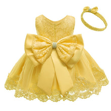 Load image into Gallery viewer, New Princess Baby Dress Lace Bow Baby Girl Dresses 3 Months To 12 Months For Wedding And Party - shopbabyitems