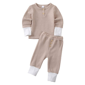New Toddler Baby Girl Boy Clothes Knitted Tops T-Shirt Leggings Pants Outfits Set - shopbabyitems