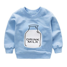 Load image into Gallery viewer, New print Pullover Tee Autumn Winter Kids Sweatshirt Tops Long Sleeve T-shirt - shopbabyitems