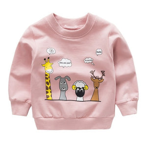 New print Pullover Tee Autumn Winter Kids Sweatshirt Tops Long Sleeve T-shirt - shopbabyitems
