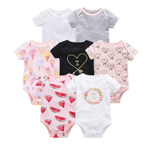 Newborn Baby Bodysuit Short Sleeve body dziecko 7pcs/set  Body bebe Pyjamas Baby Girl Clothes ropa bebe Body Baby Boy Bodysuits - shopbabyitems