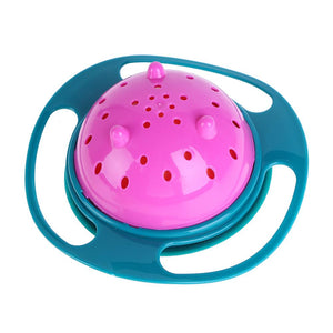 Newborn Baby Bowl Universal Gyro Bowl Practical Design Children 360 Degrees Rotate Balance Gyro Umbrella Bowl Spill-Proof Bowl - shopbabyitems