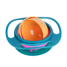 Load image into Gallery viewer, Newborn Baby Bowl Universal Gyro Bowl Practical Design Children 360 Degrees Rotate Balance Gyro Umbrella Bowl Spill-Proof Bowl - shopbabyitems