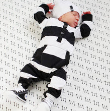Load image into Gallery viewer, Newborn Baby Boy Girls Striped Cotton Romper Long Sleeve Jumpsuit Outfit Clothes - shopbabyitems