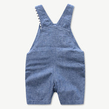 Load image into Gallery viewer, Newborn Baby Clothing Set for Boys Summer Suit Set Hat+Striped Romper+Blue Overall Suit Casual Children Boy Clothes Outfit - shopbabyitems