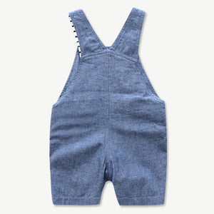 Newborn Baby Clothing Set for Boys Summer Suit Set Hat+Striped Romper+Blue Overall Suit Casual Children Boy Clothes Outfit - shopbabyitems