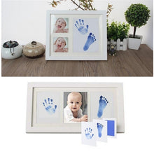 Load image into Gallery viewer, Newborn Baby Handprint Footprint Safe No wash No Mess Non-Toxic Oil Pad Painting Photo Hand Foot Print Pad Wonderful Souvenir - shopbabyitems