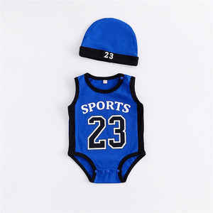 Newborn Baby Rompers Cute Basketball kids Clothes boys Girl Jumpsuits Roupas De Bebe Infantil Baby 23 Sport Clothing - shopbabyitems