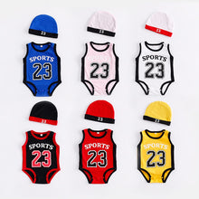 Load image into Gallery viewer, Newborn Baby Rompers Cute Basketball kids Clothes boys Girl Jumpsuits Roupas De Bebe Infantil Baby 23 Sport Clothing - shopbabyitems