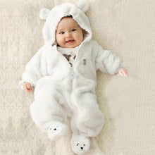 Load image into Gallery viewer, Newborn Baby Rompers Polar Fleece Baby Girls Clothes Pure Color Infant Jumpsuit - shopbabyitems