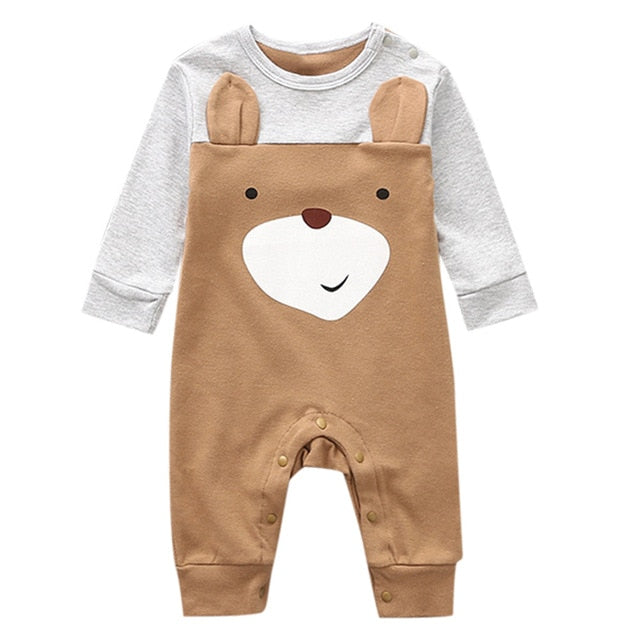 Newborn Infant Baby Boy Girl Cartoon Animal Cotton Romper Jumpsuit Clothes - shopbabyitems