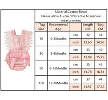 Load image into Gallery viewer, Newborn Infant Baby Ruffle Romper Lace Flutter Sleeveless Princess Clothes Bowknot Tassels Jumpsuit Sunsuits Summer Outfits Q20 - shopbabyitems