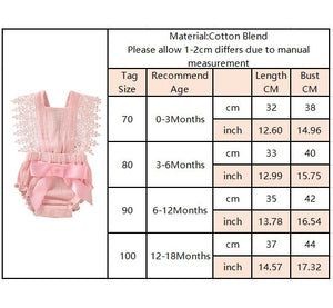 Newborn Infant Baby Ruffle Romper Lace Flutter Sleeveless Princess Clothes Bowknot Tassels Jumpsuit Sunsuits Summer Outfits Q20 - shopbabyitems