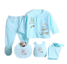Load image into Gallery viewer, Newborn Infant Baby Suits Boys Girls Clothes Sets tops Pants bibs hats Girl Clothing set for baby girls outfit 5PCS/SET - shopbabyitems
