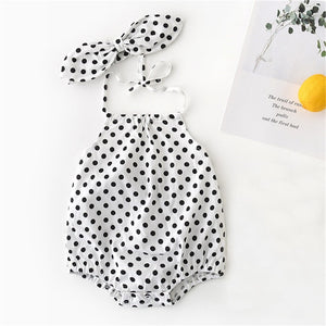 Newborn Rompers Baby Girl Clothes Sleeveless Backless Summe - shopbabyitems