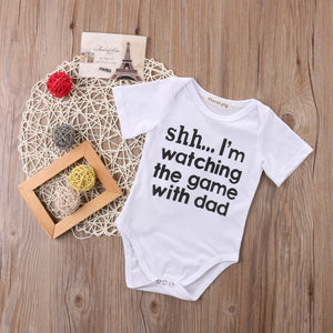 Newborn Toddler Infant Baby Girl Short Sleeve Letter Romper Cotton Jumpsuit Outfit Sunsuit Clothes - shopbabyitems