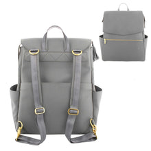 Load image into Gallery viewer, PU Leather Baby Diaper Bag Backpack+Changing Pad+Stroller Straps - shopbabyitems