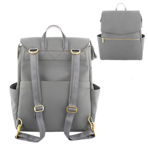 PU Leather Baby Diaper Bag Backpack+Changing Pad+Stroller Straps - shopbabyitems