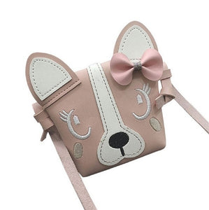 Hot Pretty Kids Girl Mini Crossbody Bag Cute Dog Bowknot Handbag Fashion Child Shoulder Bag - shopbabyitems