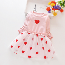 Load image into Gallery viewer, New Summer Spring Baby Toddler Sweet Faux-two Heart Design Princess Tutu - shopbabyitems
