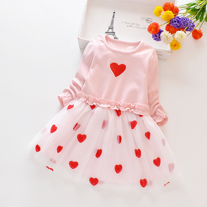 New Summer Spring Baby Toddler Sweet Faux-two Heart Design Princess Tutu - shopbabyitems