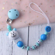 Load image into Gallery viewer, Personalized Name Baby Pacifier Clip Chain Infant Boys Girls Cute Cartoon Bear Toys - shopbabyitems
