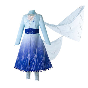Costumes Girl Princess Dress Snow Queen Girls Clothing - shopbabyitems