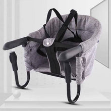 Load image into Gallery viewer, Portable Baby Highchair Foldable Feeding Chair Seat Booster Safety Belt Dinning Hook-on Chair Harness Lunch Cushion - shopbabyitems