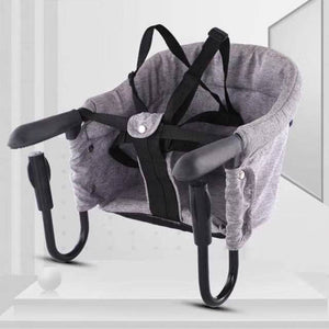 Portable Baby Highchair Foldable Feeding Chair Seat Booster Safety Belt Dinning Hook-on Chair Harness Lunch Cushion - shopbabyitems