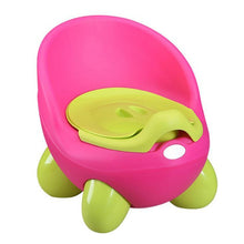 Load image into Gallery viewer, Portable Potty Baby Toilet Seat Pot Bowl Cute Children's Pot Kids Plastic Training Pan - shopbabyitems