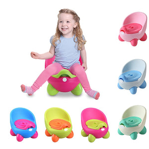 Portable Potty Baby Toilet Seat Pot Bowl Cute Children's Pot Kids Plastic Training Pan - shopbabyitems