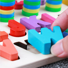 Load image into Gallery viewer, Preschool Wooden Montessori Toys Count Geometric Shape Cognition Match - shopbabyitems