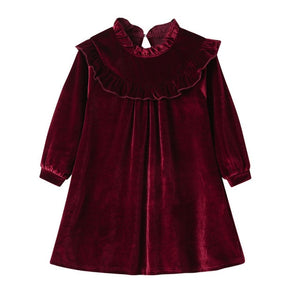 Princess Baby Girls Dress Kids Cute Velour Dress Baby Velvet Vestidos Fashion Kids Party Frocks Toddler Girl Fall Clothes 2020 - shopbabyitems