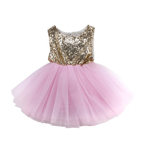 Princess Kids Baby Dress For Girls Fancy Wedding Dress Sleeveless - shopbabyitems