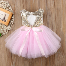 Load image into Gallery viewer, Princess Kids Baby Dress For Girls Fancy Wedding Dress Sleeveless - shopbabyitems