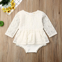 Load image into Gallery viewer, 0-24M Newborn Baby Girls Autumn Clothes Flower Lace Romper Dress - shopbabyitems