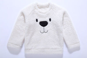 Pudcoco Cute Bear Kids Baby Girl Boy Top Blouse Sweatshirt Thick Warm Clothes Long Sleeve Cashmere Hoodies - shopbabyitems