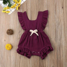 Load image into Gallery viewer, Newborn Infant Baby Girl Clothes Ruffle Solid Romper Sleeveless Jumpsuit - shopbabyitems