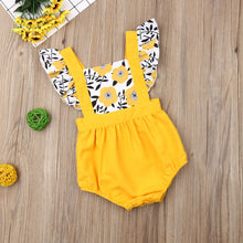 Load image into Gallery viewer, Pudcoco Summer Newborn Baby Girl Clothes Fly Sleeve Sunflower Print Romper - shopbabyitems