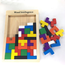 Load image into Gallery viewer, Puzzles Magic Tangram children wooden educational Game lol Hobby child Jigsaw Tetris Cubes Puzzles kids toy children boys girls - shopbabyitems