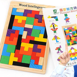 Puzzles Magic Tangram children wooden educational Game lol Hobby child Jigsaw Tetris Cubes Puzzles kids toy children boys girls - shopbabyitems