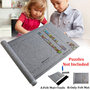 Puzzles Mat Jigsaw Roll Felt Mat Play mat Puzzles Blanket For Up to 1500 Pieces - shopbabyitems