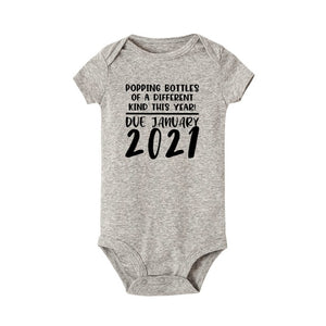 QUICK SHIP Simple Baby Coming Soon 2021 Onesie Pregnancy Announcement Baby Announcement Pregnancy Reveal Bodysuits - shopbabyitems