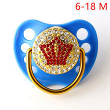 Load image into Gallery viewer, Red Crown Pacifiers For Baby 0-18 Months Baby Pacifiers BPA Free Bling Pacifiers - shopbabyitems