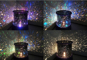 Romantic LED Starry Night Sky Projector Lamp Kids Gift Star Light Novelty Lamp   Nightlight Illusion For Baby Children - shopbabyitems
