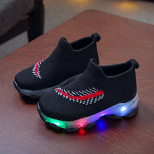 Load image into Gallery viewer, Sneakers Children Baby Girls Boys Feather Mesh Led Luminous Socks Sport Run Sneakers Sapato Infantil Menina Light Up Shoes - shopbabyitems